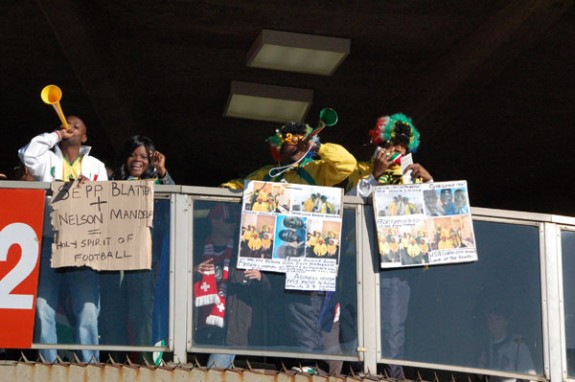 Bafana Bafana Supporters at Ellis Park